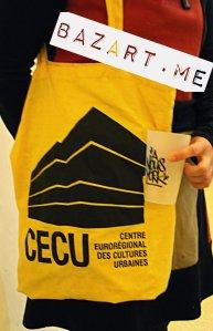 Je suis repartie avec ça :) Maintenant je fais la pub du Cecu sur Amiens puisque le sac me sert pour transporter mon déjeuner au bureau.